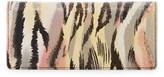 Lodis Clemson Sasha Snakeskin Embossed Genuine Leather Checkbook Wallet