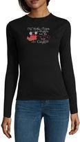 MC2 Saint Barth Long Sleeve Crew Neck Holiday T-Shirt-Womens
