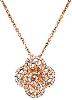 L・I・U Fei Liu Fine Jewellery Cascade Womens Mini Pendant in Rose Gold colour Award-winning Design 925 Sterling Silver AAA Cubic Zirconia Gift Box Packed