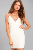 Lush Slice of Heaven White Lace Bodycon Dress