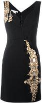 Antonio Berardi metallic embellished fitted dress - women - Rayon/Spandex/Elastane/Silk - 40