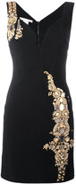 Antonio Berardi metallic embellished fitted dress