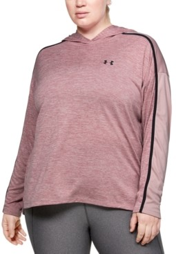 Under Armour Plus Size Tech Colorblocked Hoodie Top
