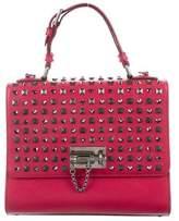 Dolce & Gabbana Monica Studded Lock Satchel