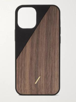 Native Union Clic Wooden Tpu-Trimmed Walnut Iphone 12 Mini Case