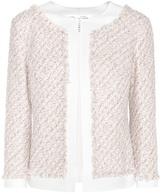 Oscar de la Renta Bracelet Sleeve Wool Knitted Cardigan