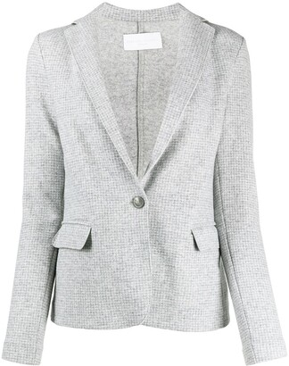 Fabiana Filippi Check-Pattern Wool Blazer