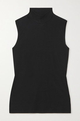 Theory Ribbed Stretch-jersey Turtleneck Top - Black