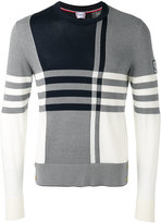 Moncler Gamme Bleu checked knitted jumper - men - Cotton - XL