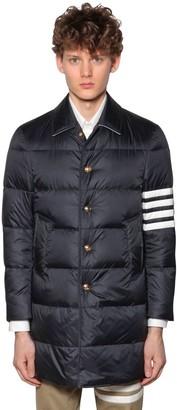 Thom Browne Nylon Down Jacket W/4 Bar Details