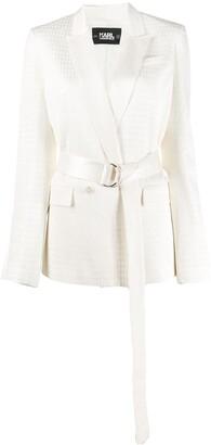 Karl Lagerfeld Paris Cameo belted blazer