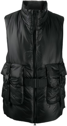 Y-3 Belted Padded Gilet