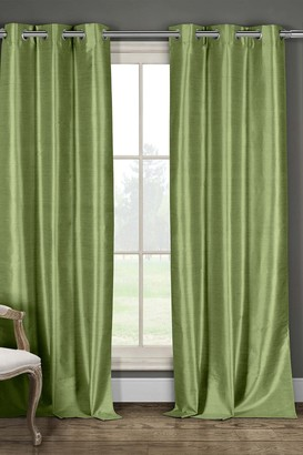 Duck River Textile Daenery's Faux Silk Foamback Grommet Curtains 96L - Set of 2 - Sage