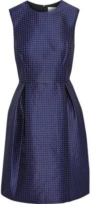 Sachin + Babi Sen Pleated Satin-jacquard Mini Dress