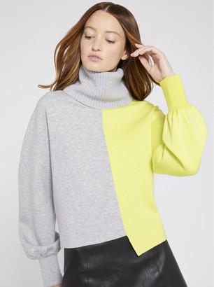 Alice + Olivia Spencer Neon Color Block Sweater