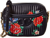 Tory Burch Fleming Floral Leather Camera Bag