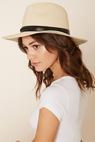 Forever 21 FOREVER 21+ Stitched Straw Fedora