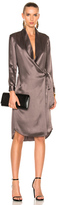 Michelle Mason for FWRD Long Sleeve Belted Tunic Coat in Purple.