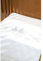 Silver Cross Coverlet Vintage Blue by
