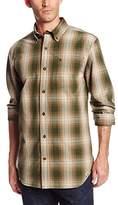 Carhartt Men's Bellevue Long Sleeve Shirt Plaid Button Front Relaxed Fit