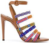 Aquazzura Masai 105 sandals - women - Calf Leather/Goat Fur - 36