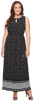 MICHAEL Michael Kors Plus Size Nora Border Maxi Dress Women's Dress