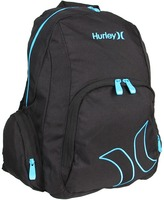Hurley Hall Pass Solid Backpack (Black) - Bags and Luggage