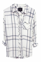 Rails Hunter Plaid Shirt in White/Charcoal/Pink