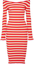 Altuzarra Socorro Off-the-shoulder Striped Stretch-knit Dress - Red