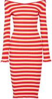 Altuzarra Socorro Off-the-shoulder Striped Stretch-knit Dress - x large