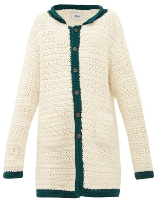 Bode - Crocheted Wool Cardigan - Womens - Ivory