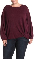 Pleione Textured Knit Sweater (Plus Size)