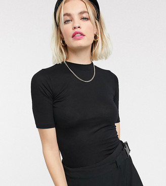 Collusion fitted short sleeve t-shirt in black