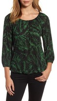 MICHAEL Michael Kors Women's Palm Print Peasant Top
