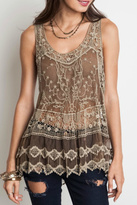 Umgee USA Sheer Crochet Top