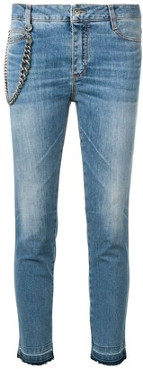 Ermanno Scervino chain detail cropped jeans