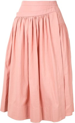 Rochas Gathered Asymmetric Skirt