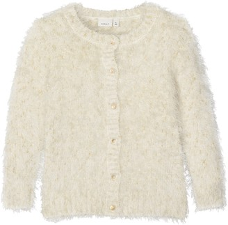 Name It Baby Girls' Nitfebasta Ls Knit Card Mini Cardigan