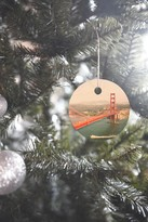 DENY Designs Bree Madden Golden Gate View Ornament
