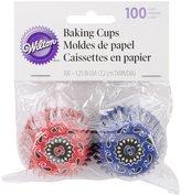 Wilton Baking Cups, Mini, Bandana Print, 100-Pack