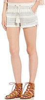Jolt Striped Drawstring Linen Soft Shorts