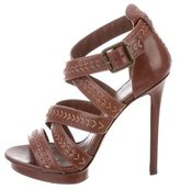 Brian Atwood Crossover Leather Sandals