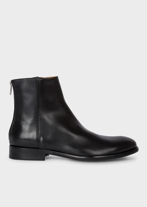 Men's Black Leather 'Jean' Boots