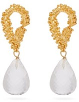 Alighieri The Initial Spark Glass-drop 24kt Gold Earrings - Womens - Gold