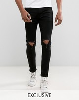 Ripped Knee Jeans Mens - ShopStyle