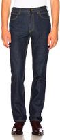 Calvin Klein High Rise Straight Leg Jeans in Blue.