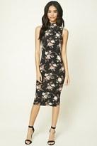 Forever 21 FOREVER 21+ Floral Print High-Neck Dress