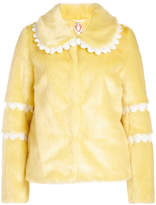 Shrimps Faux Fur Jacket with Crochet Trims
