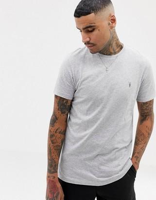AllSaints Tonic ramskull logo t-shirt in gray