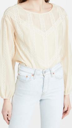 Long Sleeve Cotton Organza Blouse